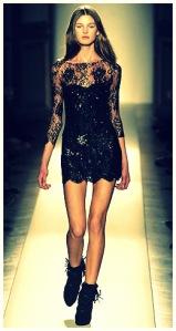 balmain-fall-2008-black-lace-mini-sequin-dress